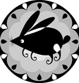 funny Chinese horoscope rabbit vector image vector image