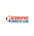 geaographic touristic club emblem vector image vector image