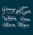 germany and argentina hand written typography vector image vector image