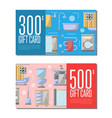 gift card for bathroom furniture vector image vector image