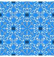 greek decorative floral seamless pattern blue vector image vector image