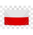 hanging flag poland republic poland polish vector image vector image
