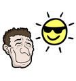 happy man and sun vector image vector image
