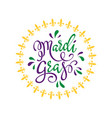 happy mardi gras greeting card vector image vector image