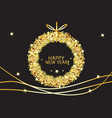 happy new year glowing gold background vector image vector image
