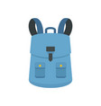 haversack icon flat style vector image vector image