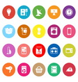 Home related flat icons on white background vector image vector image