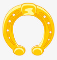 horseshoe from gild vector image vector image