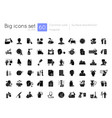 hospital black glyph icons set on white space vector image