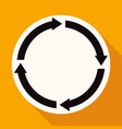 icon abstract arrow on white circle with a long vector image vector image