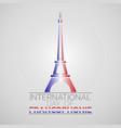 international day francophonie logo icon design vector image