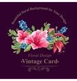invitation vintage card with blueberries pink vector image vector image