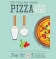 italian pizza poster vector image vector image