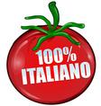 italian tomato vector image vector image