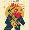 jazz music festival poster or vector image