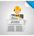 jobs concept design vector image vector image