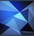 low poly design element on blue gradient vector image vector image
