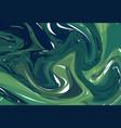 luxury dark green marble background with swirls vector image
