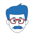 man with eyeglasses character face avatar male vector image vector image