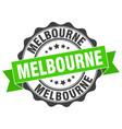 melbourne round ribbon seal vector image vector image