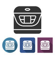 multicooker icon in different variants with long vector image vector image