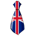 necktie in national colours of UK vector image vector image