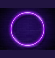 neon glowing circle purple frame for banner vector image vector image