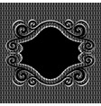 ornament frame on metal textur vector image vector image