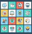 pack of science and technology flat icons vector image vector image