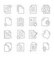 paper icon document icon vector image vector image