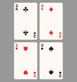 Playing cards two vector image vector image