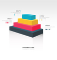 pyramid cube infographic side view vector image vector image