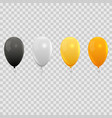 Realistic air balloons set