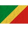 republic congo paper flag vector image vector image