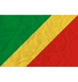 Republic of Congo paper flag vector image