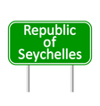 Republic of Seychelles road sign vector image vector image