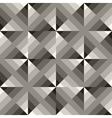 Seamless Black White Geometric Square vector image vector image