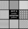SET 2 Seamless geometric patterns vector image