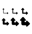 set arrows and directions signs path or choice vector image vector image