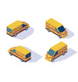 set mail car for delivery of mail and parcels vector image vector image