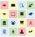 set of 16 editable science icons includes symbols vector image vector image