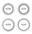 Set of Black Abstract Halftone Circle Frames vector image