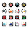 Shopping icons set - account save 24h shopping vector image vector image