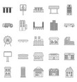 skyscrapers icons set outline style vector image vector image