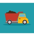 tipper truck construction icon design vector image