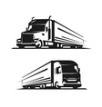 truck with trailer logo lorry delivery symbol vector image