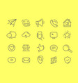 web interface thin linear icons vector image