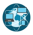 Devices Conect to Internet vector image