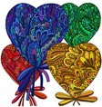 heart of the flower elements vector image