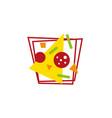 modern geometric pizza vector image
